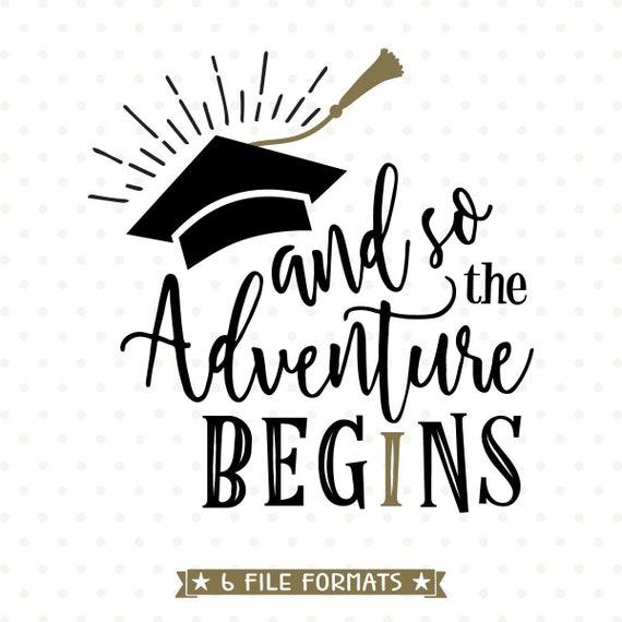 2018 Graduation Svg The Adventure Begins Svg File 2018 Etsy