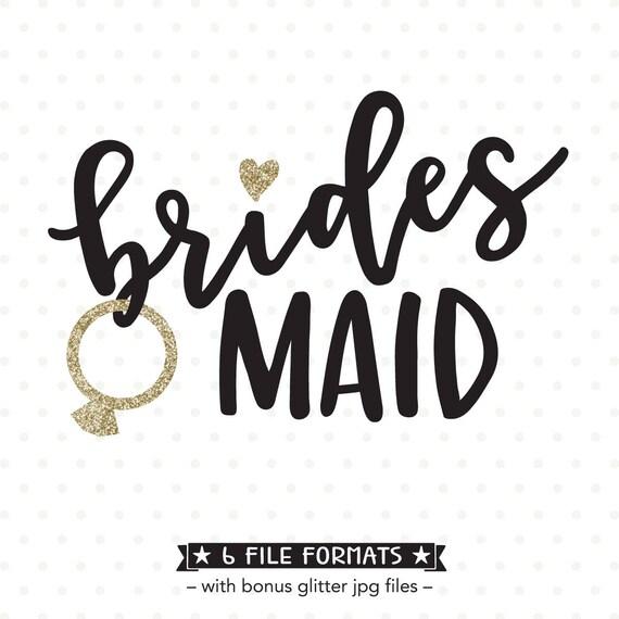Bridesmaid Svg File Bridesmaid Shirt Iron On File Bridal
