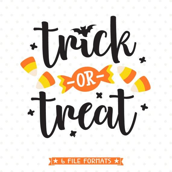 Trick Or Treat Svg Halloween Svg File Trick Or Treat Bag Svg Etsy