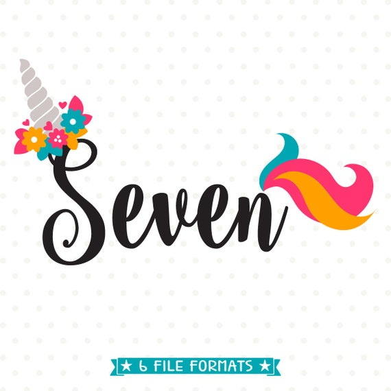 7th birthday 7th Birthday SVG Unicorn Birthday SVG Seven Years Old svg | Etsy 7th birthday