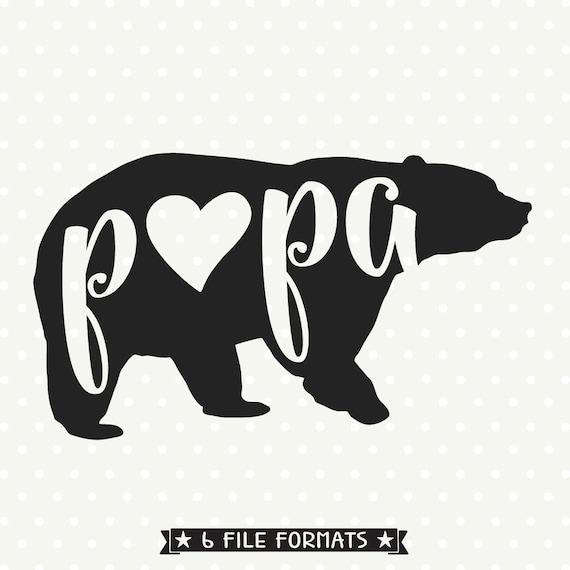 Papa Bear Svg File Bear Family Svg File Bear Svg File