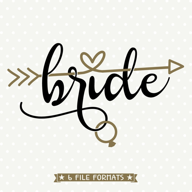 Bride DXF file DIY Bridal Party Shirt Wedding svg file DXF image 0