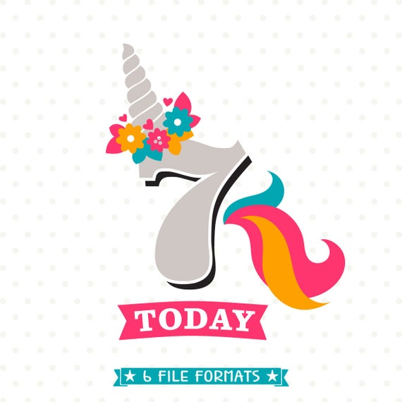 7th birthday 7th Birthday SVG Unicorn Birthday SVG Girls Birthday svg | Etsy 7th birthday