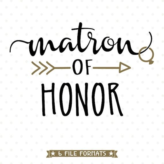 matron of honor svg diy maid of honor gift diy bridal party etsy