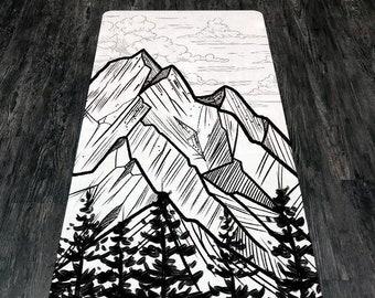 YOGA MAT - Peak - Mountain Yoga Mat - Peak Mountain Yoga Mat - Eco-Friendly Yoga Mat - Non-Slip Yoga Mat - Latex Free