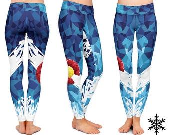 LEGGINGS - Colorado Yoga Leggings -  Colorado Yoga Pants sport mandala Yoga leggings fitness workout Yoga Colorado Leggings WYNTERCO pants