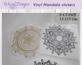 Mandala sticker, Mandala decal, Cover sticker, vinyl decals, adhesive vinyl, vinyl sticker, Planner sticker, mandala, journal sticker