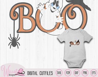 Boo Girl Ghost baby halloween svg, Cute ghost Girl svg, Svg cut files, witch hat svg, vinyl cut file, dxf cut file, cricut svg, plotter file