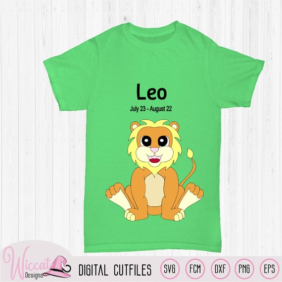 Baby Lion Leo Zodiac Baby Star Sign Svg Zodiac Born In Etsy