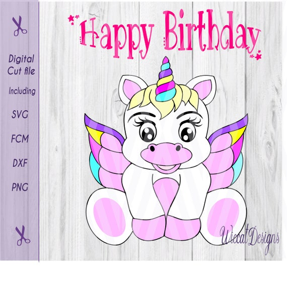 Baby Unicorn Wings Svg Birthday