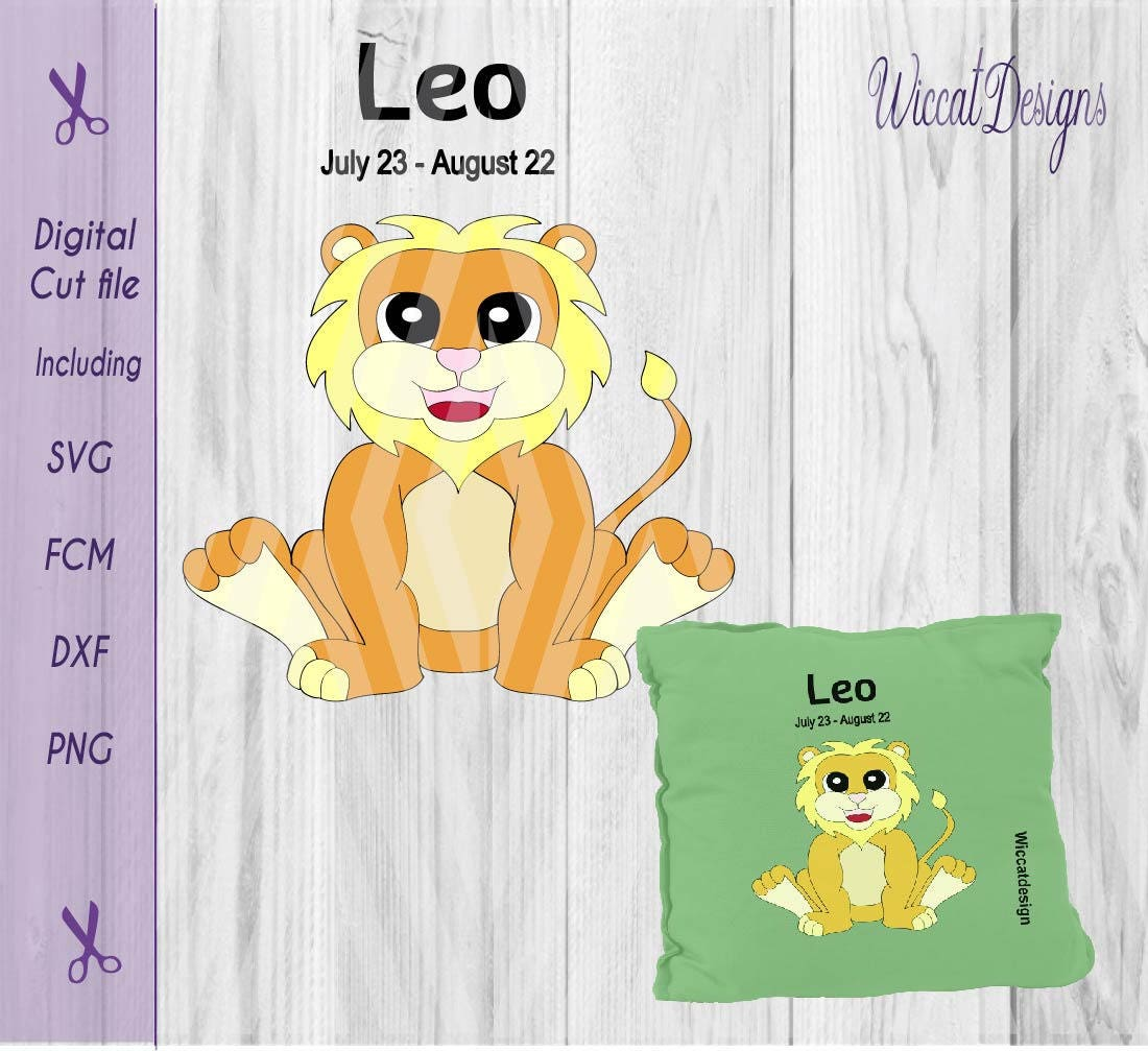 Lion Svg Leo Svg Baby Svg Star Sign Svg Zodiac Svg Born Etsy
