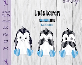 Penguin, 3 penguins svg, Baby boy svg, No evil svg, Little penguin, toddler svg, animals svg, cut file, scanncut, nursery svg, cricut svg.