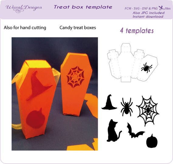 halloween candy box svg candy coffin template treat box etsy