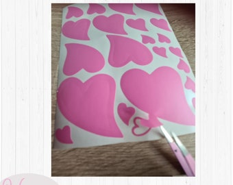Heart sticker, various sizes heart decal, journal decal, vinyl decal,  Planner Vinyl decal, water bottle, Tumbler decal, sticker decoration