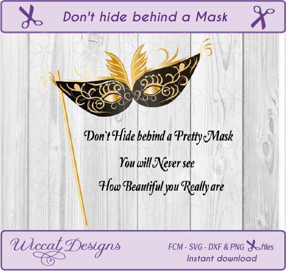Mask Svg Masquerade Mask Svg Quotes Svg Masked Ball Svg Etsy