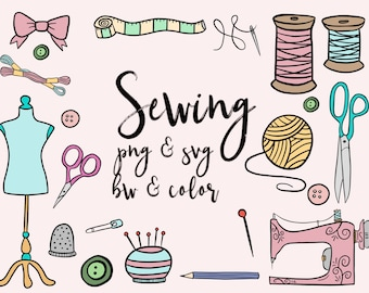 sewing clip art etsy rh etsy com sewing clip art free downloads sewing clip art borders