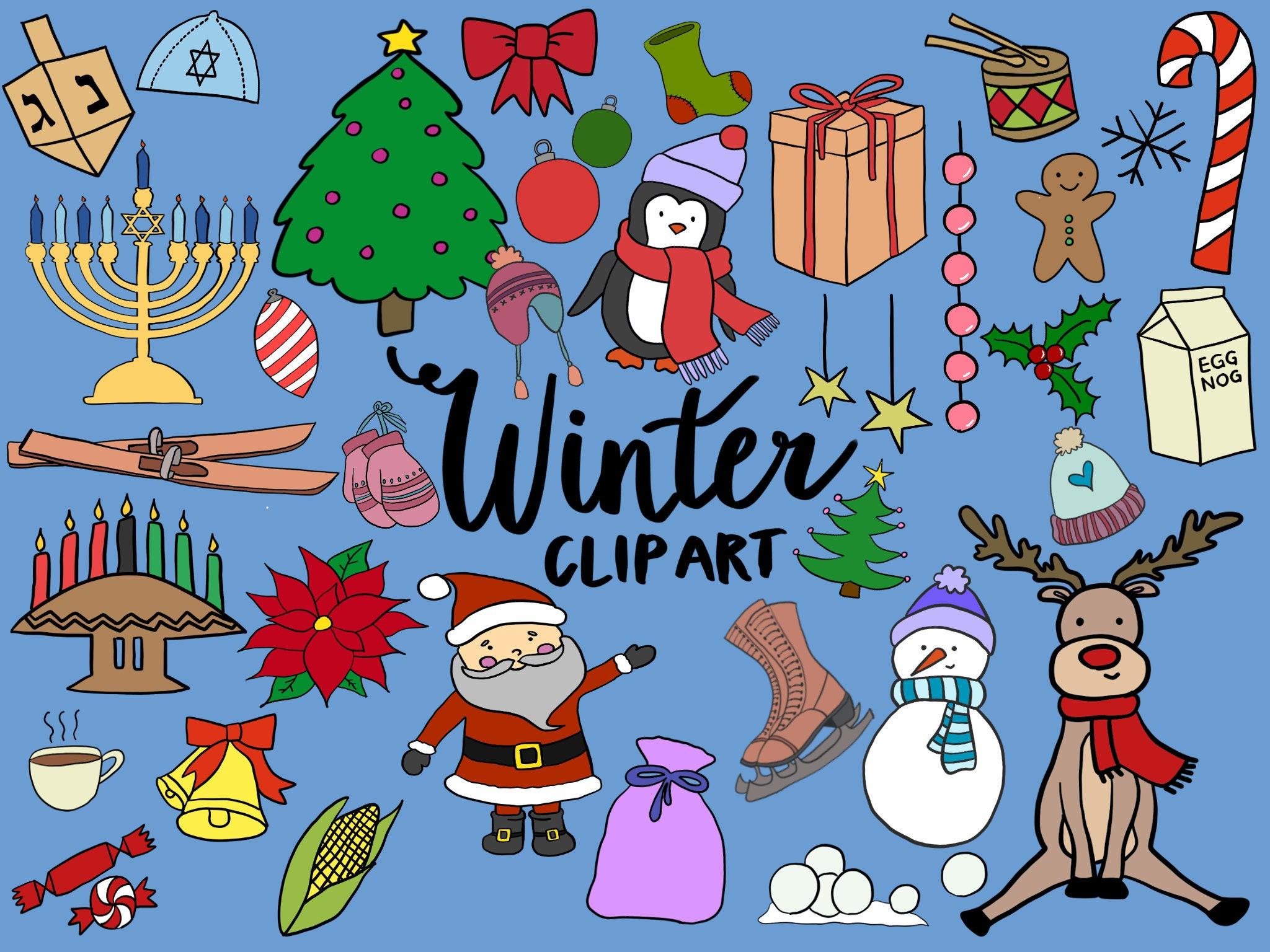 WINTER/HOLIDAY CLIPART Clip Art Winter Christmas Kwanzaa