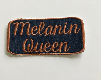 3d8618a2e35ab Melanin Queen African American Woman Patch Cool Patch Embroidered Patch  Melanin Poppin  Patch Black Girl Magic Patch Black Pride