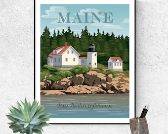 Bass Harbor Lighthouse Large Size Fine Art Print