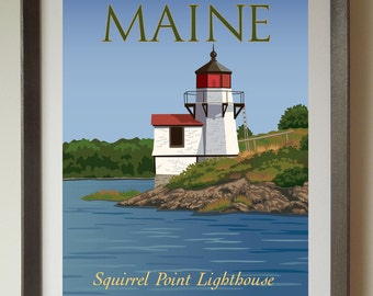Squirrel Point Lighthouse Fine Art Print
