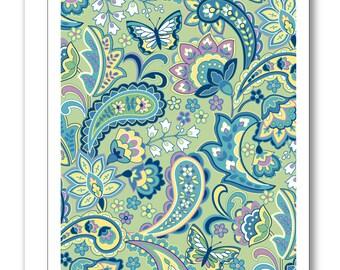 Paisley Greeting Card BP19