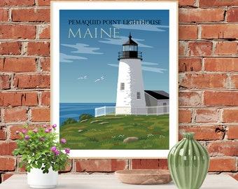 Pemaquid Point Lighthouse Large Fine Art Print