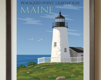 Pemaquid Point Lighthouse Fine Art Print