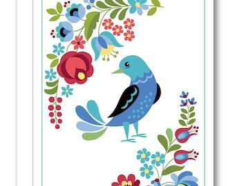 Hungarian Folk Design Greeting Card BP15
