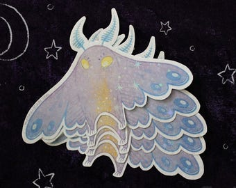 Cutie Cryptid Mothman Sticker
