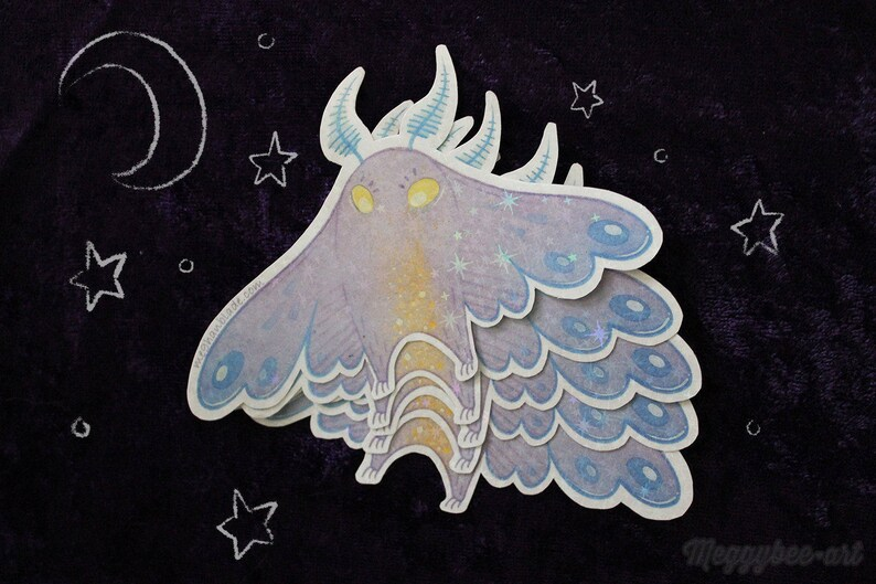 Cutie Cryptid Mothman Sticker image 0