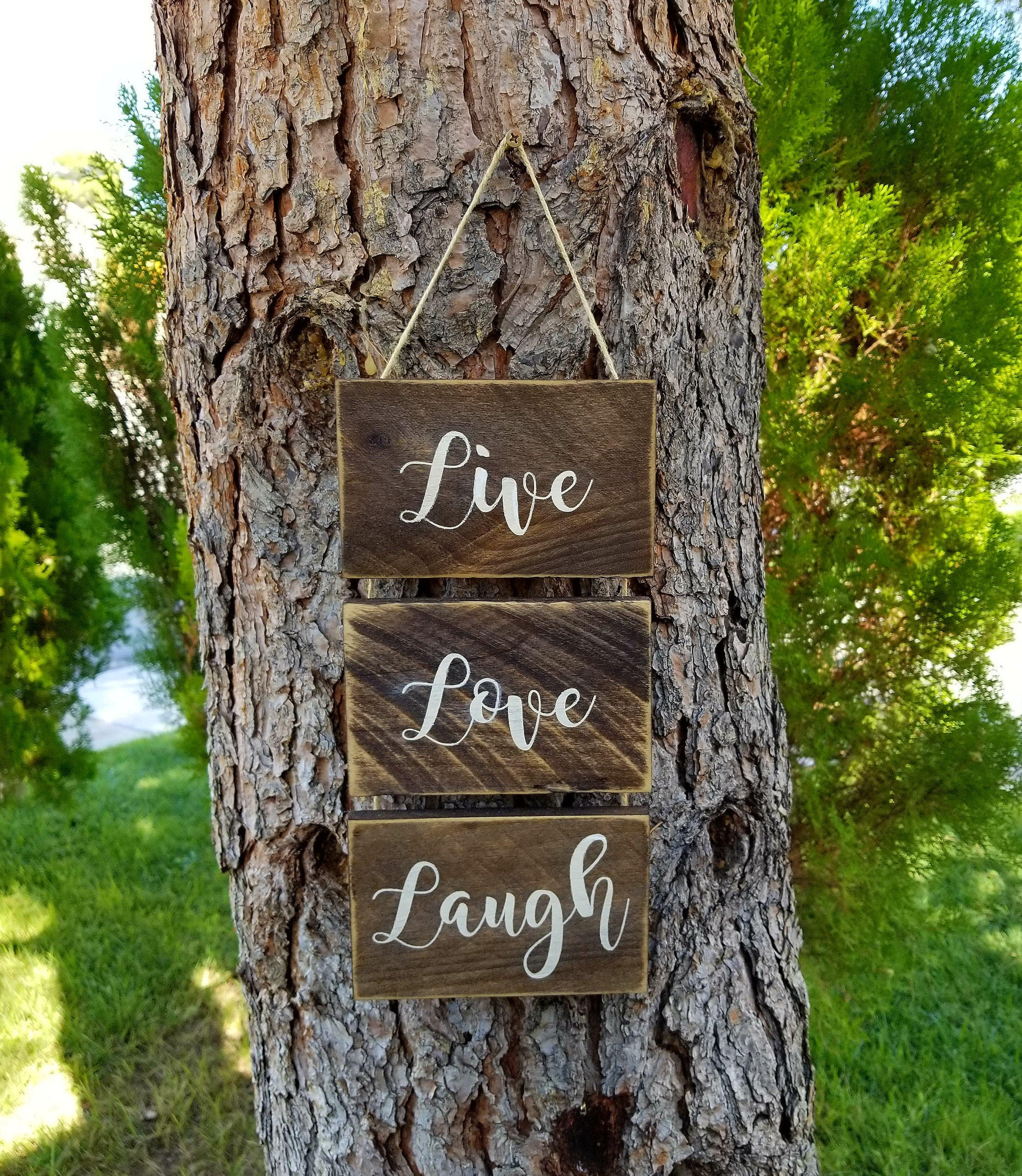Live Love Laugh sign. Pallet wood signs. Rustic Home Decor ...