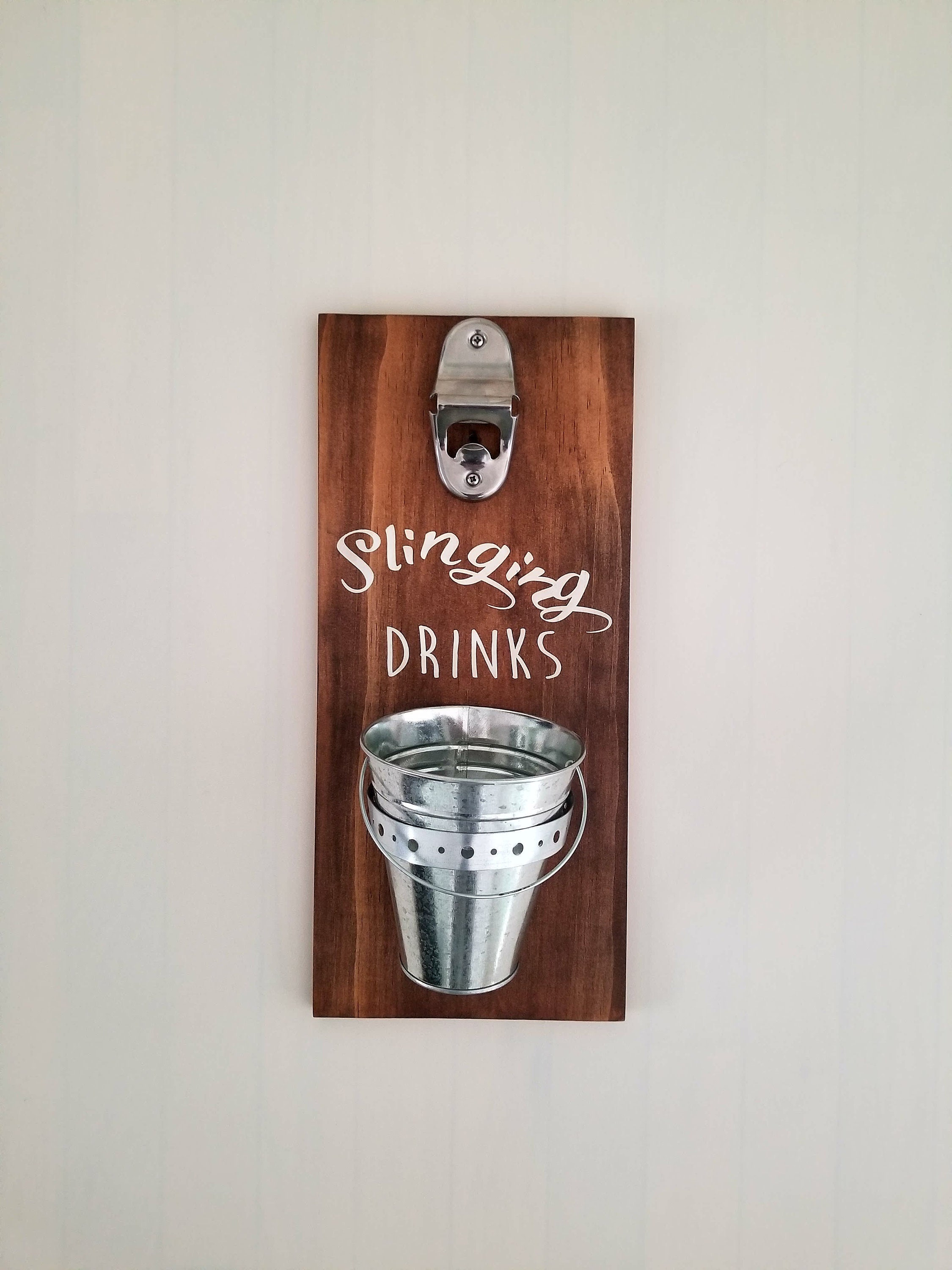 Image of: Personalized Wall Mounted Bottle Opener Bottle Opener Wall Mount With Cap Cathcer Custom Beer Bottle Opener Wall Mount Bottle Opener