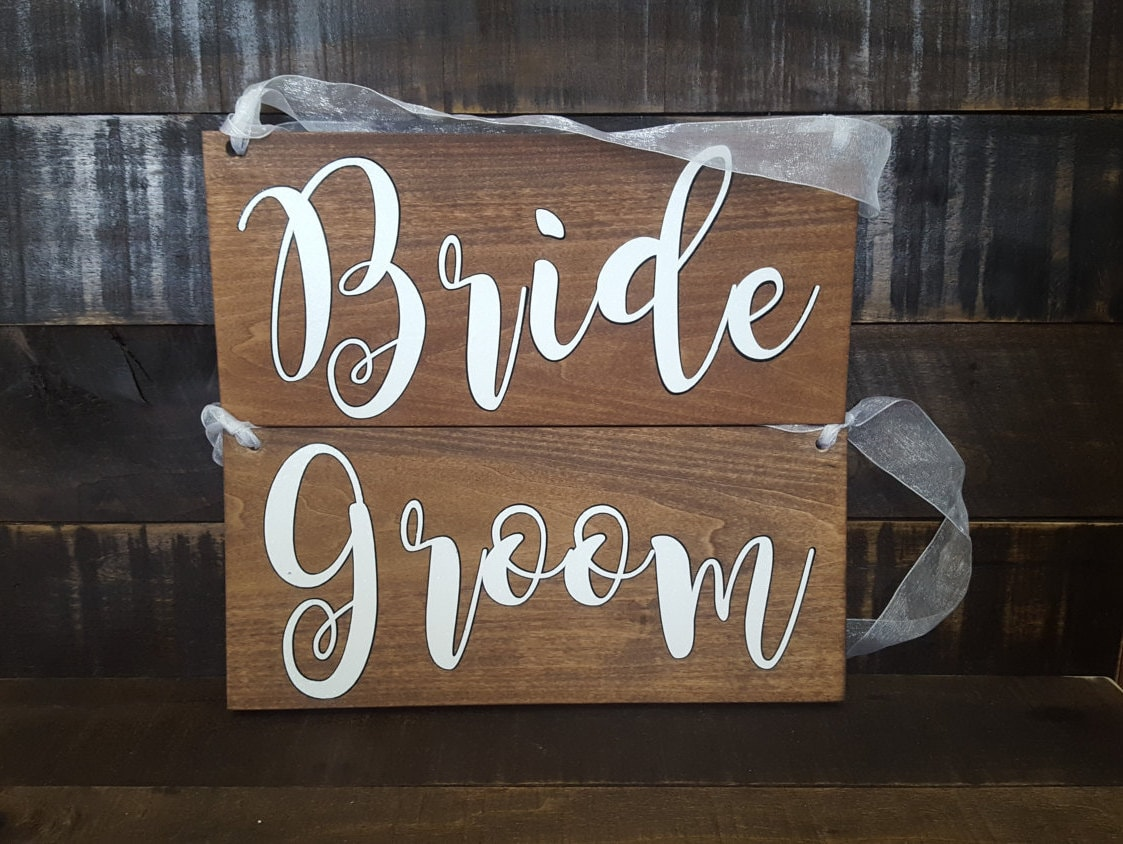 Bride and Groom Chair Signs. Wedding chair signs. Bride Groom wood signs. Wedding signs. Mr and Mrs. Better Together. Rustic wedding signs & Bride and Groom Chair Signs. Wedding chair signs. Bride Groom wood ...