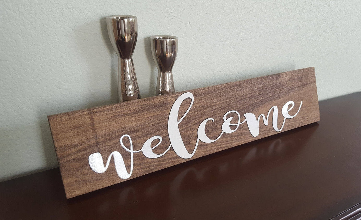 Welcome Sign. Wooden Welcome Sign. Wedding Sign. Rustic Home Decor. Front  Door Decor. Porch Welcome Sign. Family Gift. Christmas Gift.
