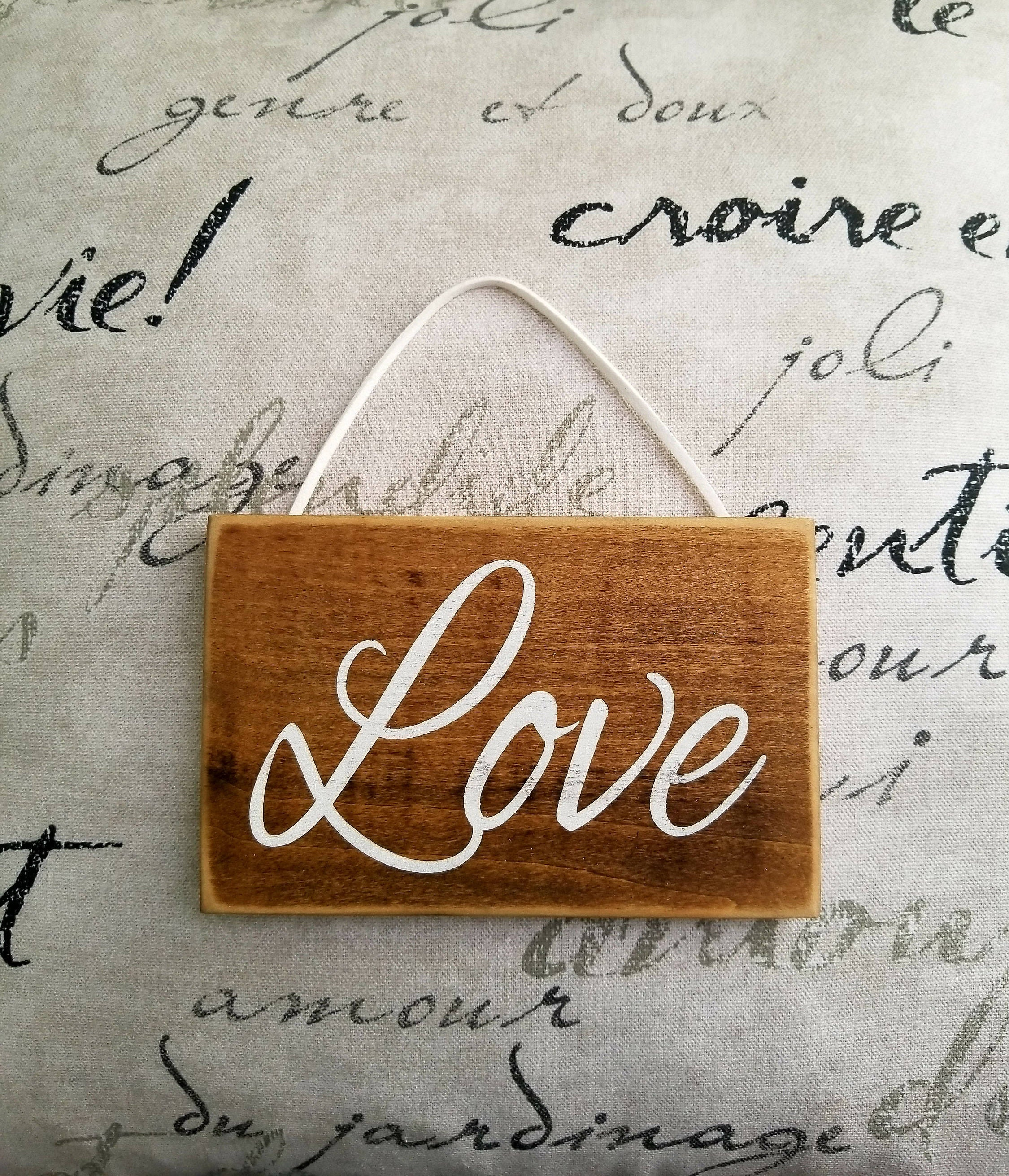 Rustic Love sign. Small Love sign. Pallet wood signs ...