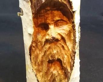 Hand carved tree spirit #9