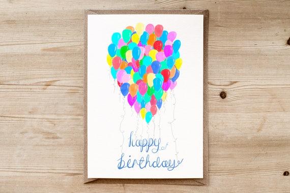 Balloon Birthday Card UP Childrens