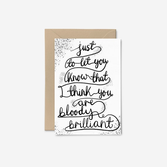 Encouraging Card Journey Thousand Miles Small Card Hand Lettered Card Positive Card Motivational Card Go and Get /'em Card SCC92