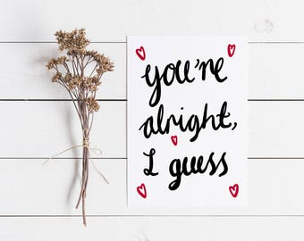Funny Valentines Card | Funny Anniversary Card | Romantic Card | Funny Girlfriend Card | Wife Valentines Card | Husband Valentines Card |