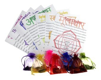 Full Chakra Healing Set - 49 Piece Crystal Set with Bags