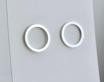 Minimal Sterling Silver hoop studs
