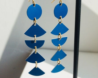 Blue Lightweight Sotsass totem earrings