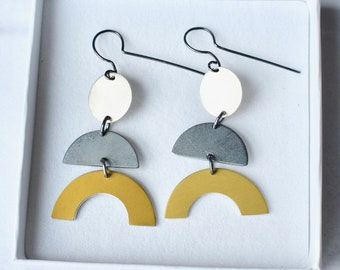Graphic Statement earrings.
