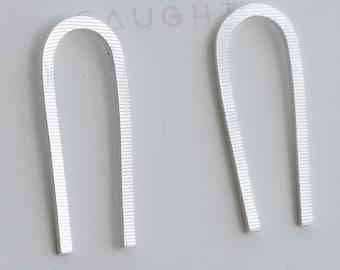 Sterling Silver U-Shaped Earrings