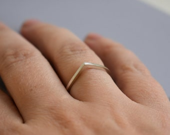 Fine Point Silver ring