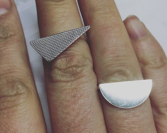 Bauhaus Style rings Sterling silver