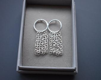 Sterling Silver Tassel earrings.