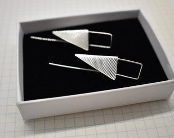 Sterling Silver Triangle earrings.