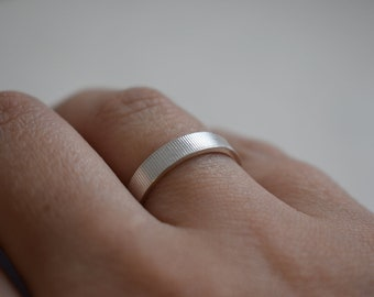 Textured Sterling Silver Ring Band - Wedding Band