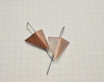 Triangle Arrowhead drop earrings/statement earrings